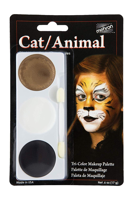 Mehron Makeup Tri-Color Halloween Makeup Palette (CAT/Animal)