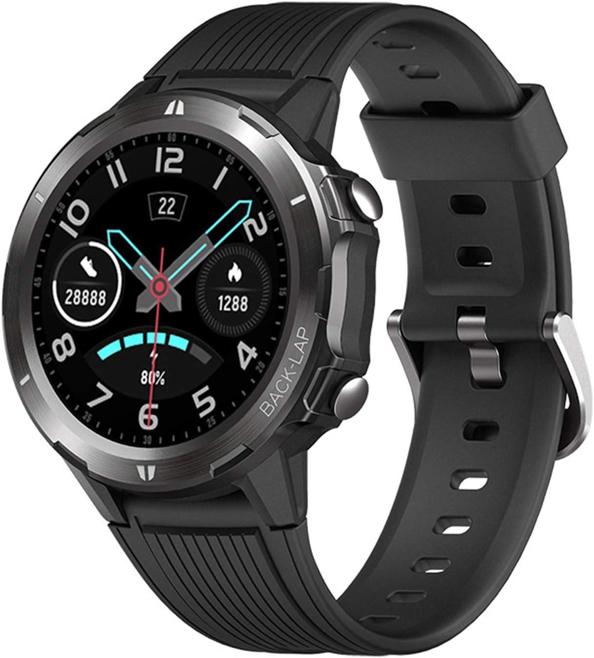 LTLGHY Reloj Inteligente Hombres Monitor De Actividad con 12 Modos Deportivos Pulsómetro Calorías Monitor De Sueño Podómetro IP67 Impermeable Reloj Compatible con Android iOS,Negro