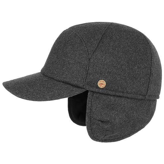 f204b9908 Mayser Premium Earflaps Baseball Cap sports wool: Amazon.co.uk: Clothing