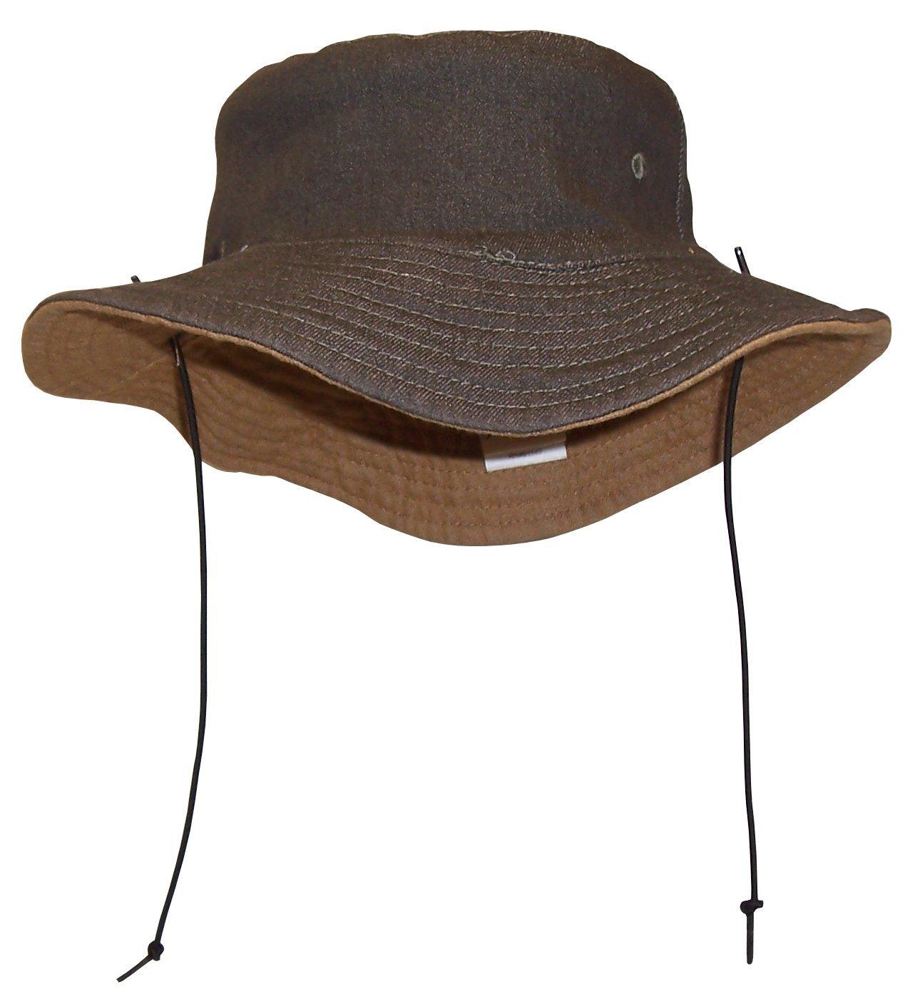 N'Ice Caps Kids Distressed Denim Reversible Adjustable Sun Protection Hat 402-D-52-OT