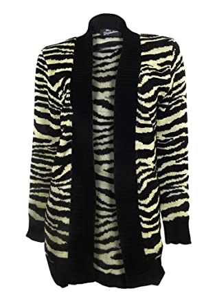 Signature Black//Gold Zebra Stripe Edge to Edge Cardigan Long Sleeve approx 12//14