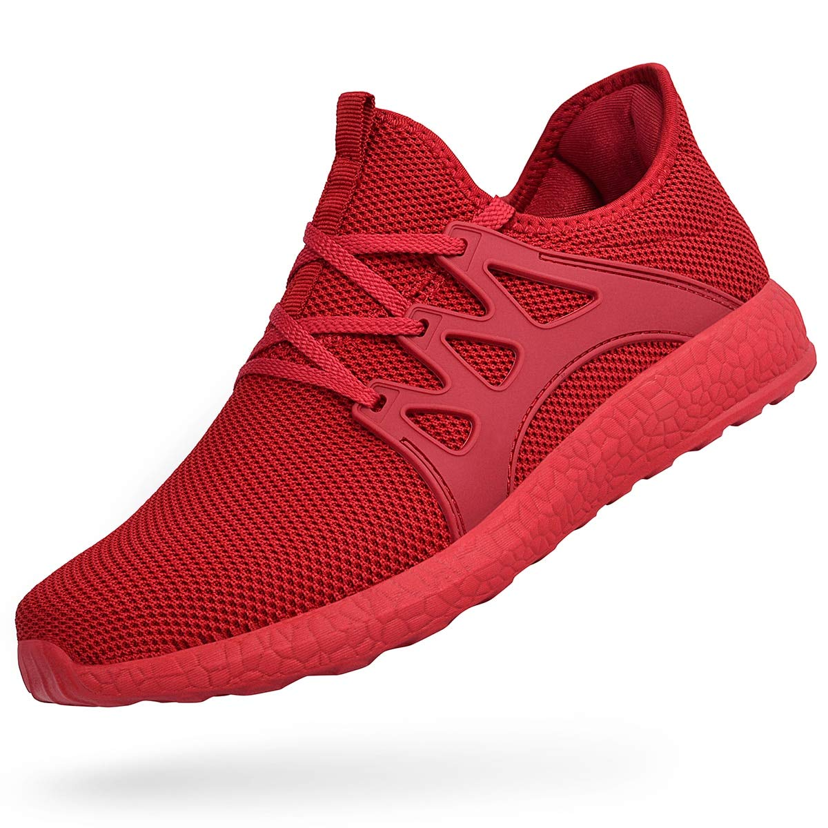 QANSI Women Men Running Shoes Sports Trainers Athletic Comfy Walking Shoes Lightweight Gym Sneakers