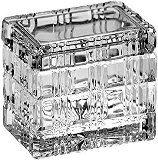 Majestic Gifts Cut Crystal Jewelry//Candy Large Box 5.5