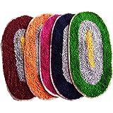 AV Creations Cotton Designer Bathmat/DoorMat Small OvalPremium Quality_Multi)set of 5