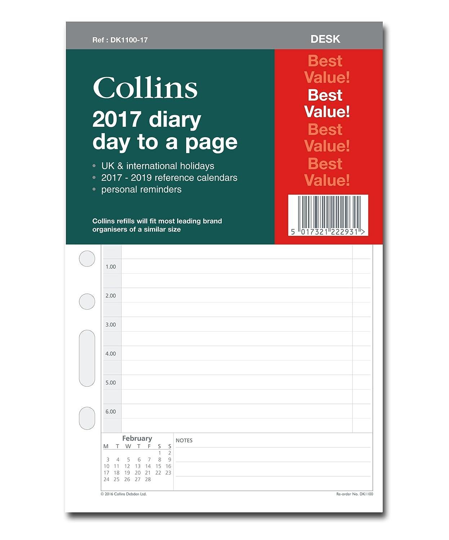 Collins - Recambio de hojas para agenda de escritorio 2017 ...