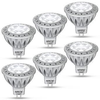 Étonnant AGOTD Ampoule LEDs GU5.3 MR16 12V Spot Blanc Froid, 7W SMD Lampe XH-32