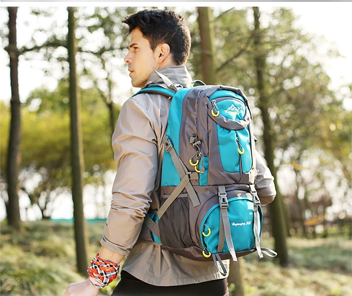 Leggero Zaino da Campeggio per Gli Uomini Donne Giovani Zaino in Spalla con ZUZEN Escursionismo Zaino 50L Impermeabile