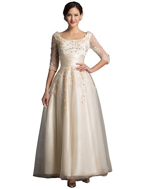 Quissmoda vestido novia, corto, largo fiesta, noche, gala, talla 34,
