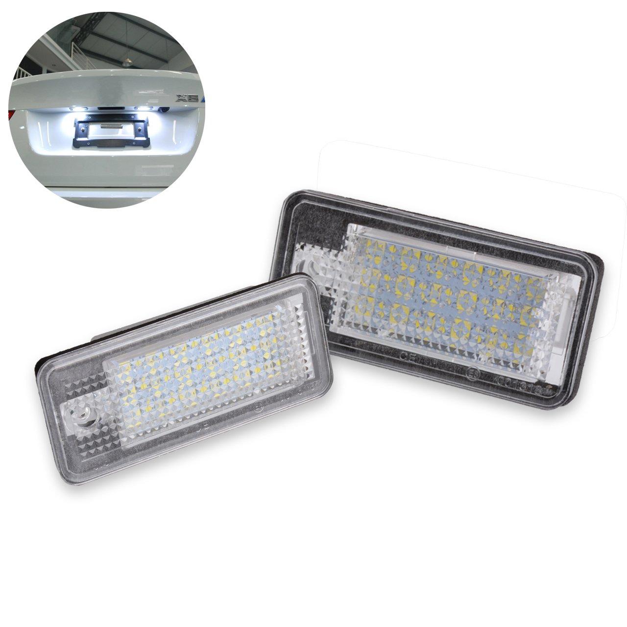 confezione da 2 Ngcat 3528 24 SMD LED Lampadina no Canbus errore numero di targa luce lampade Canbus