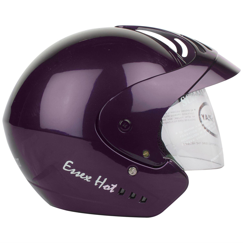 281aa957 Replay Essex Hot Plain Open Face Helmet with Clear Visor (Purple, M):  Amazon.in: Car & Motorbike