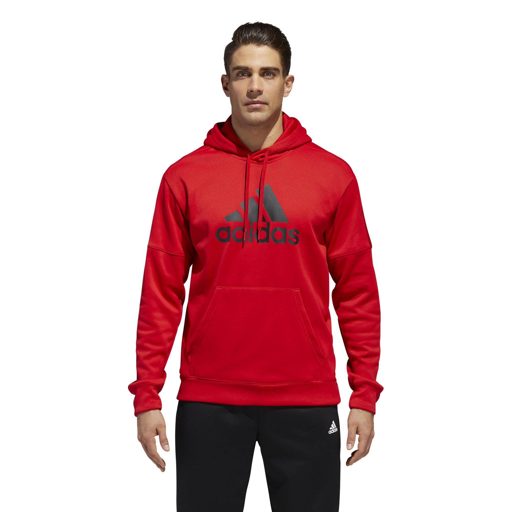 adidas Men's Athletics Team Issue Full-Zip Fleece Hoodie, Scarlet, Large by adidas