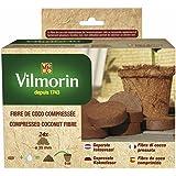 Vilmorin 3990620 Kit de 24 Pastilles Fibre de Coco Compressée