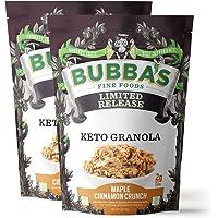 Bubba's Fine Foods Keto Granola (Maple Cinnamon Crunch, Pack of 2)