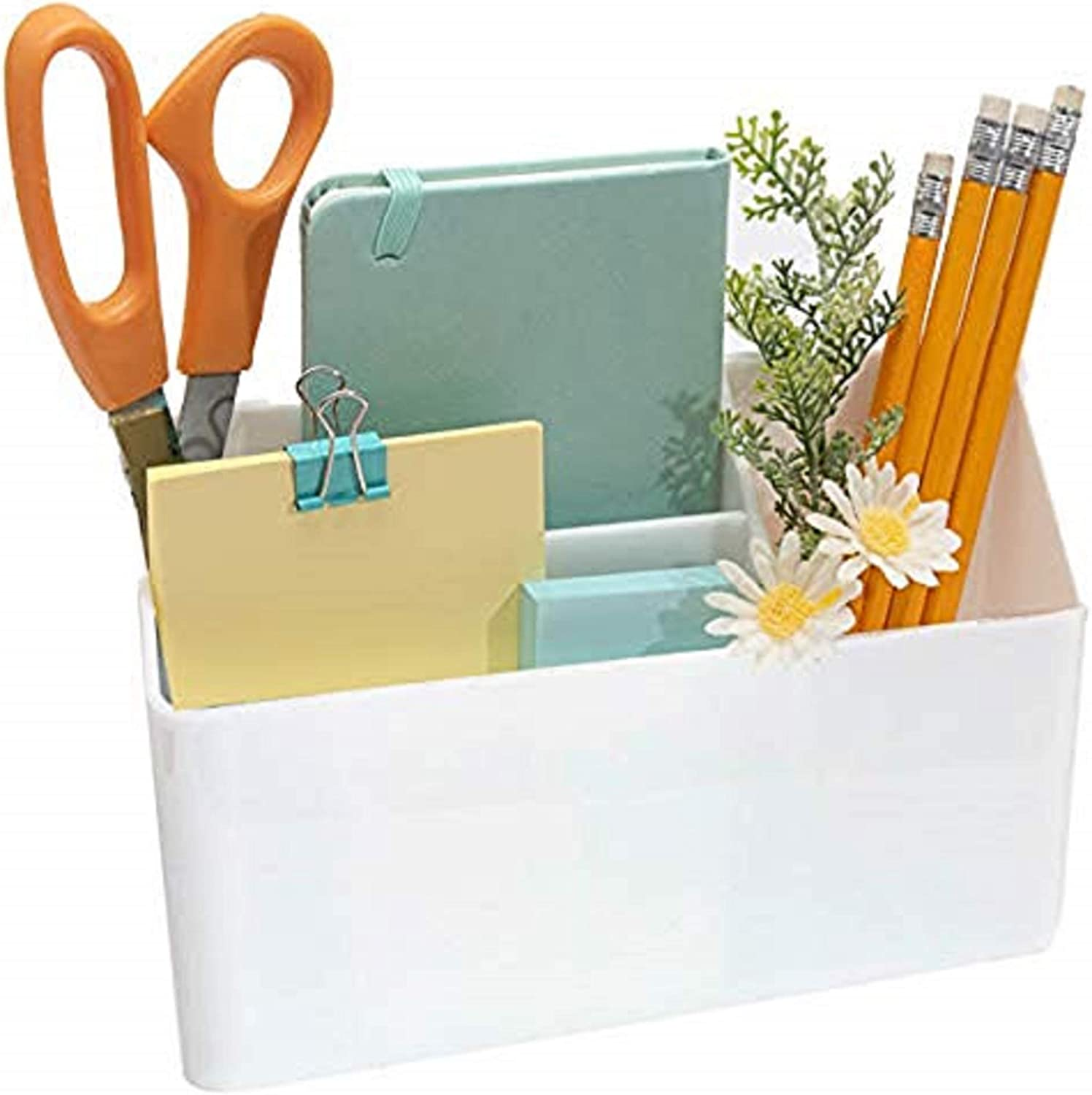 The Most Sturdy Hanging Organizer - with Powerful Suction Cups and 3 Compartments for Storage for Your Locker, Whiteboard, Fridge and Office Accessories