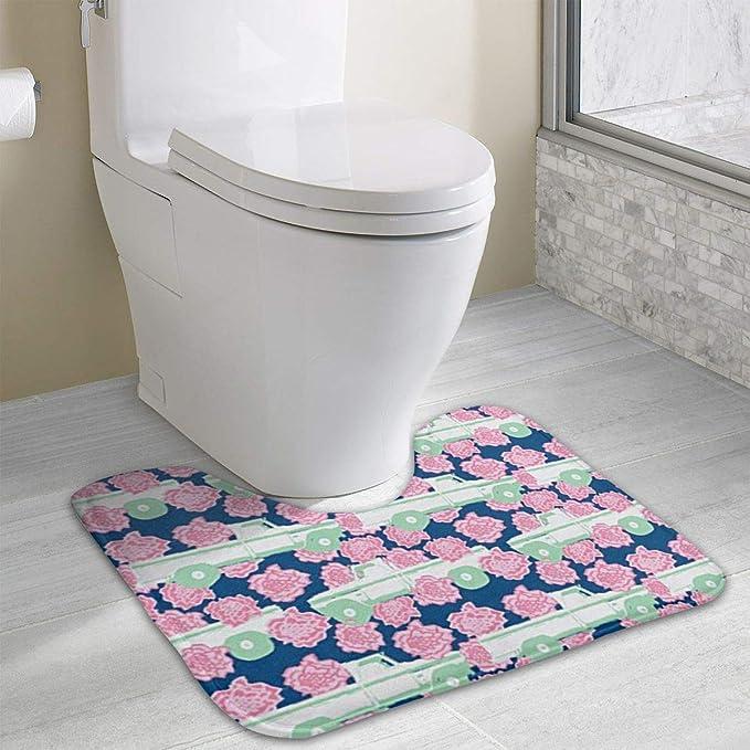 Groovy Amazon Com Non Slip Contour Bath Mat For Toilet Pink Theyellowbook Wood Chair Design Ideas Theyellowbookinfo