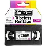 Muc-Off Tubeless Rim Tape, 25mm - Pressure-Sensitive Adhesive Rim Tape for Tubeless Bike Tyre Setups - 10 Metre Roll…
