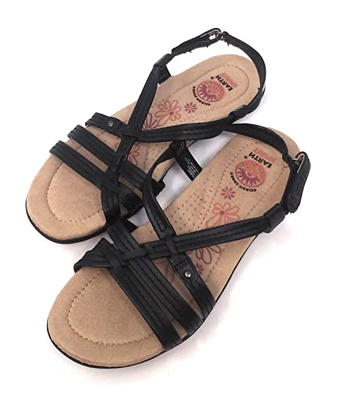 7612e9c3 Earth Spirit Women Sandals, Assorted Styles and Sizes (6, Black/Stripes)