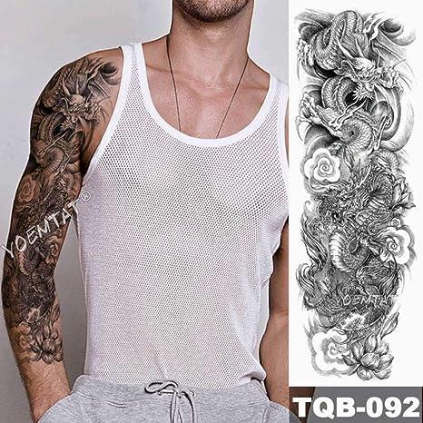 Tatuaje de brazo grande japonés León manga impermeable tatuaje ...