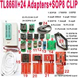 SETCTOP TL866II Plus USB Programmer +24 Adapter Socket+SOP8 Clip 1.8V nand Flash 24 93 25 mcu Bios EPROM AVR eprom