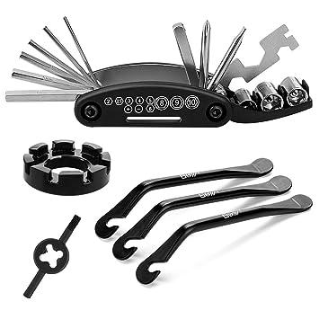 Qkurt Kit de Herramientas de reparación de Bicicletas, Herramientas de reparación de Ciclismo 16 en