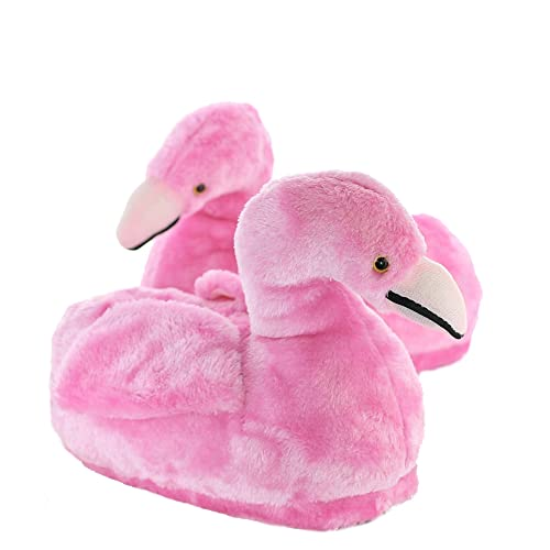 Sleeper z - Flamant rose - Chaussons animaux peluche - Femme - Cadeau  original - 576a83c67e2