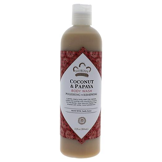 Nubian Heritage Body Wash Coconut and Papaya or Goats Milk and Chai 13 Oz