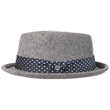 9c206c9a89898 Lierys Dotted Ribbon Porkpie Hat by Men | Made in Italy Men´s Wool Felt
