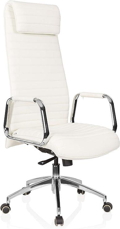 hjh OFFICE 600902 silla ejecutiva ASPERA 20 cuero napa blanco ...