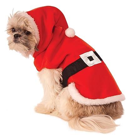 Rubies Disfraz de Papá Noel con Capucha para Perro: Amazon ...