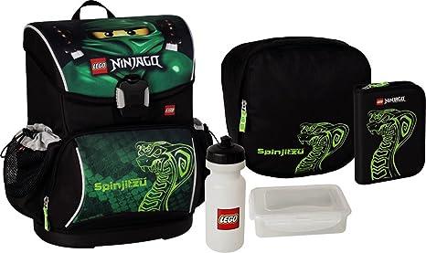 60948ffd3 Lego Ultimate zaino scuola e accessori (set 5 pz) Ninjago Green ...