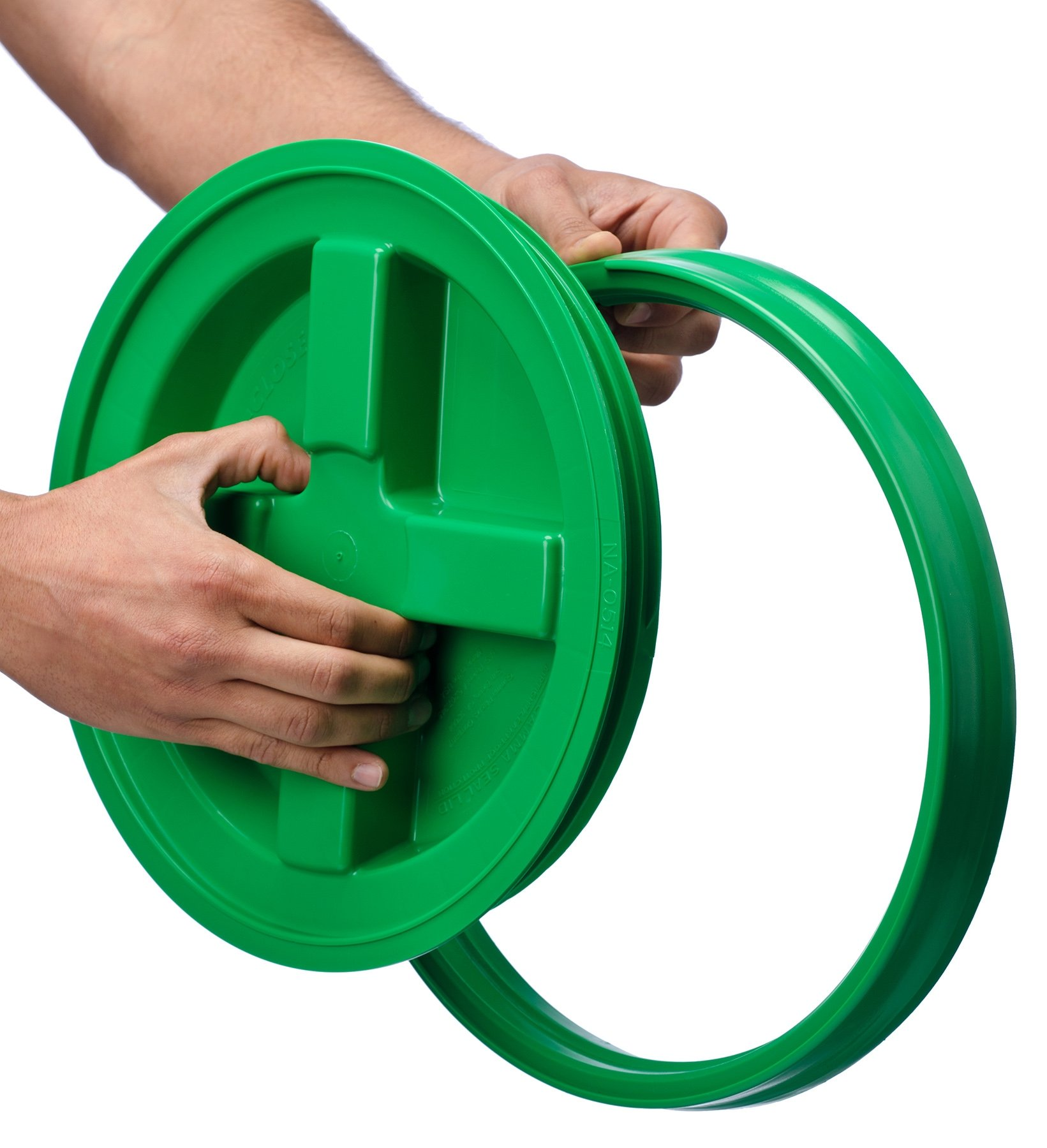 5 Gallon Green Gamma Seal Lid- 6 Pack