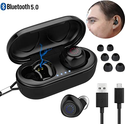 Amazon Com Bluetooth Earbuds Wireless Bluetooth Earpiece Baodantech V5 0 Wireless Headset Bass Hifi Stereo In Ear Earphones Driving Headset 200 Hrs Standby Time With Mic Noise Cancelling Waterproof Ipx7 Home Audio Theater