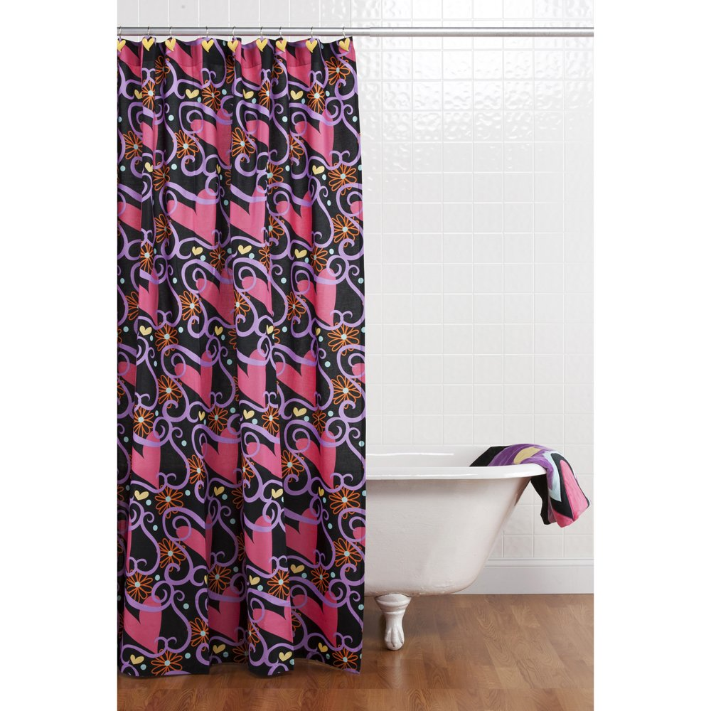 One Grace Place Sassy Shaylee Shower Curtain with Hooks