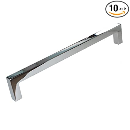 Gliderite Hardware 21683 192 Pc 10 Solid Square Slim Cabinet Bar
