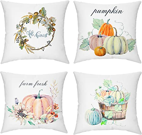 Fall Thanksgiving Autumn Pumpkin Cushion Cover Pillow Case Sofa Home Decor 18/'/'