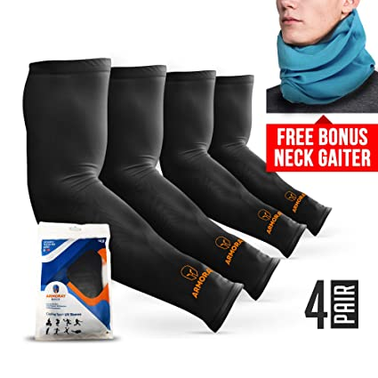 0e4440b168 ARMORAY Arm Sleeves for Men or Women - Compression Warmers to Cover Tattoo  - For Basketball