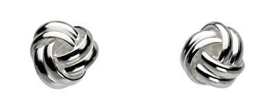 Dew Sterling Silver Spiral Stud Earrings uRkh62JTsX