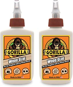 Gorilla Wood Glue, 4 ounce Bottle, (Pack of 2)