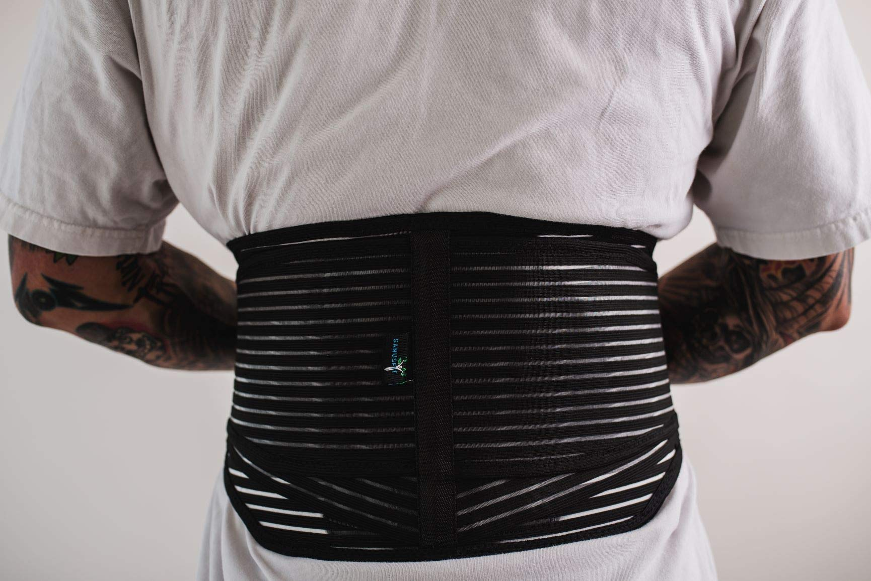 Back Brace with Lumbar Pad, Lumbar Support Brace, Lower Back Wrap, Back Pain Relief, Adjustable Compression Straps, Back Support Brace, Additional Lumbar Pad Included - SANUSFIT (Extra Large)