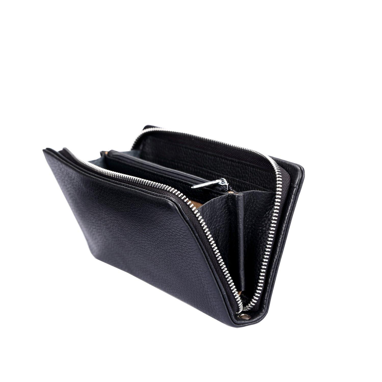 e15778ce9d3c Amazon | [パボジョエ] メンズ レザー 長財布 超柔らかい 本革 ハンドバック 多機能 ビジネス 人気 モテる 大容量 小銭入れ (黒) |  財布