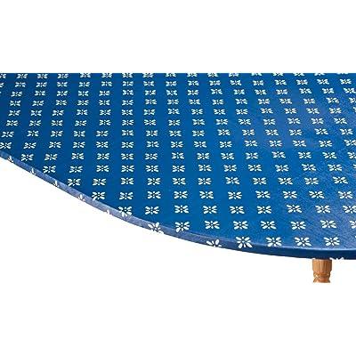 WalterDrake Heritage Vinyl Elastic Table Cover with Fleece Backing in 3 Sizes, Reusable : Garden & Outdoor