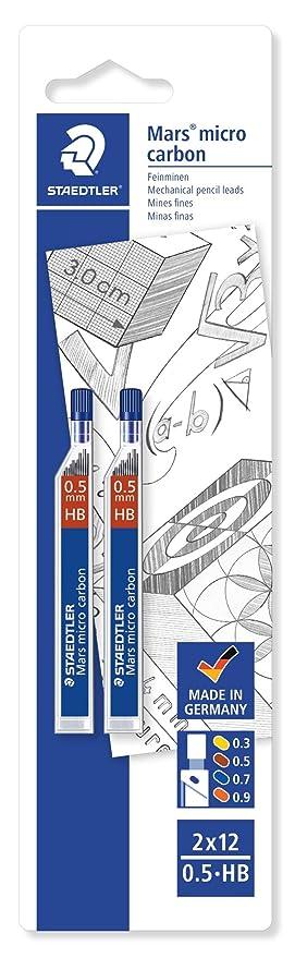 certifi/é avec recharges HB 0,3/0,5/0,7 Staedtler Marsmicro 0,3-0,7/lot de 3/couleurs