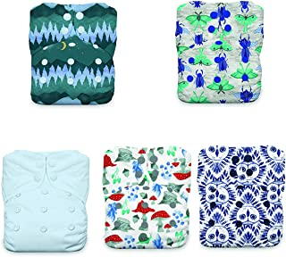 product image for Thirsties Nature's Canopy Cloth Diaper Collection Package, Snap One Size All in One Cloth Diaper, Nature's Canopy