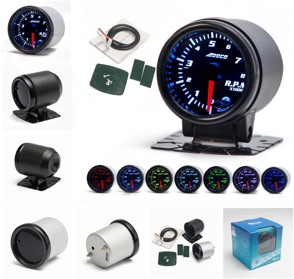 balikha Metro Universale Da 2// 52mm 7 Colori LED Auto Contagiri Indicatore Automatico Contagiri