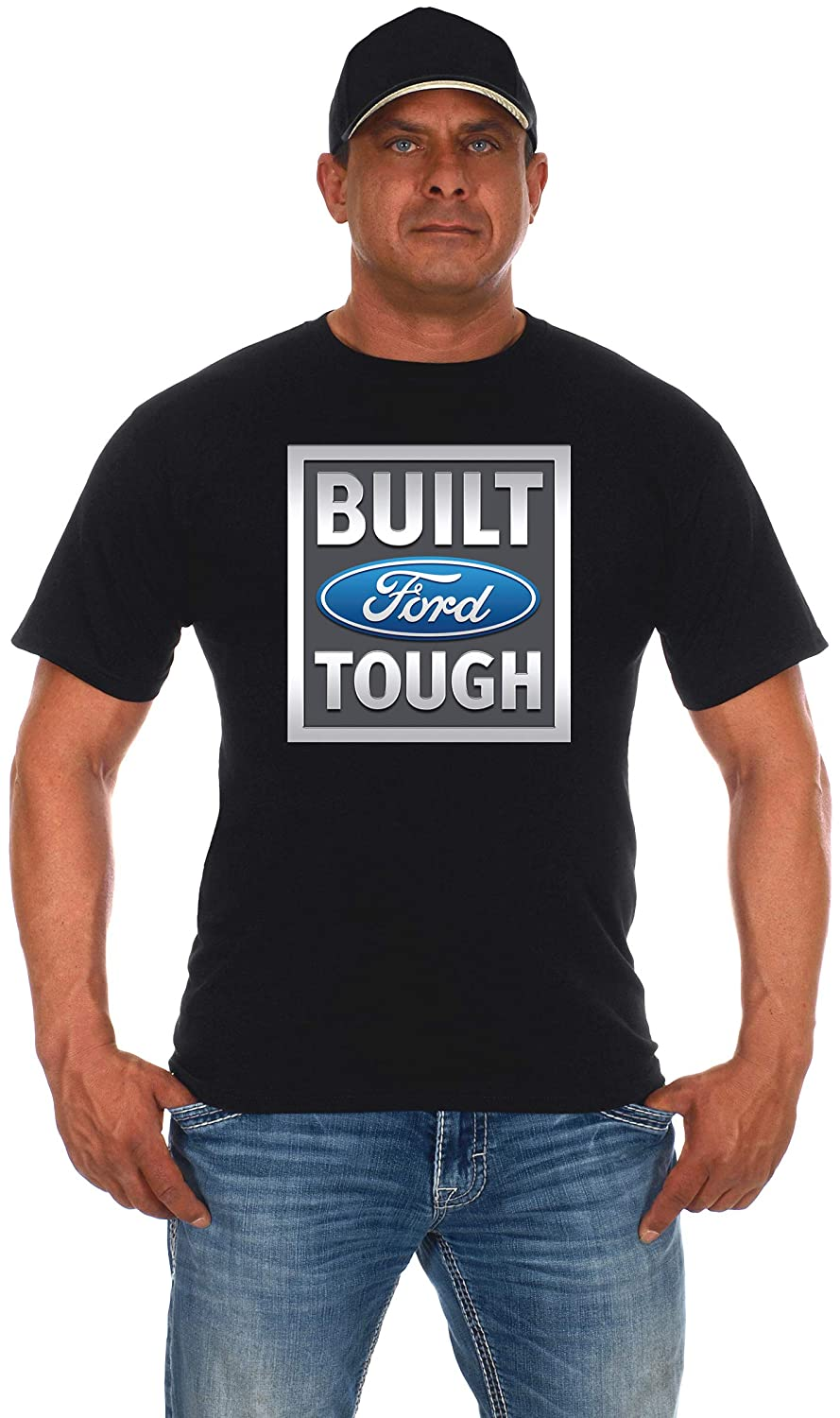 JH DESIGN GROUP Mens Ford Truck T-Shirts in Two Styles Black /& Charcoal