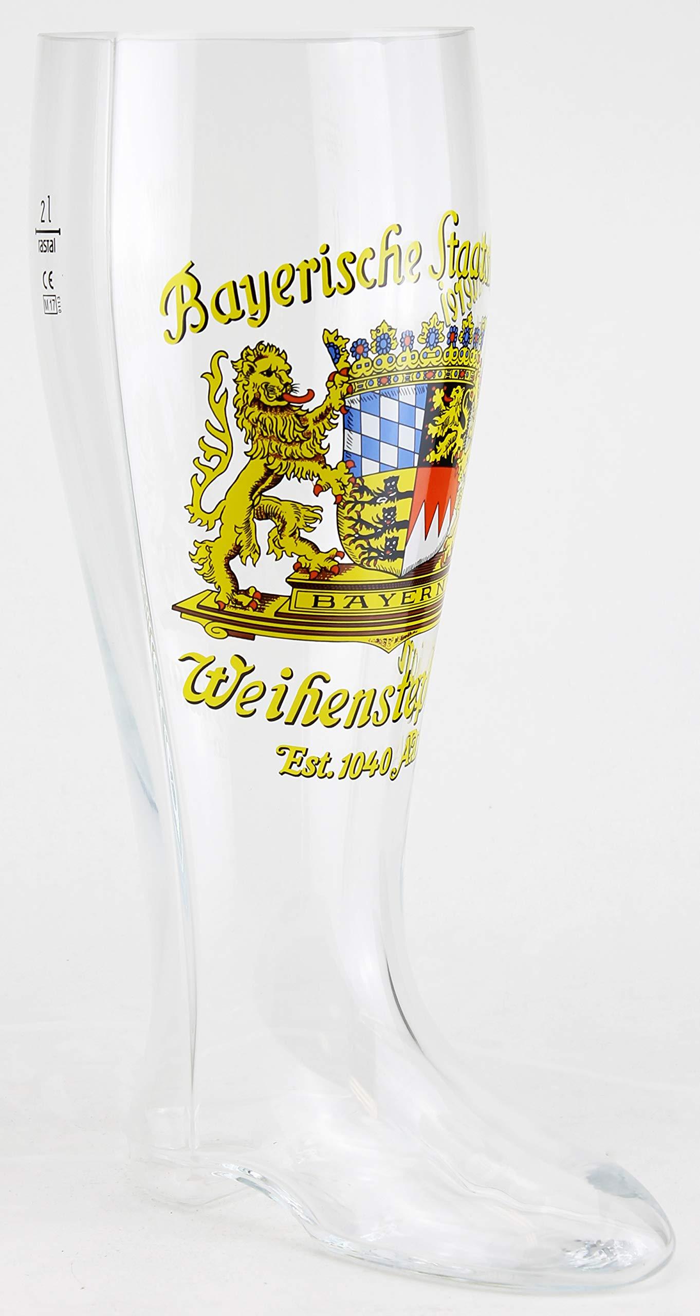 Weihenstephaner Authentic German Beer Boot Glass, 2 Liter