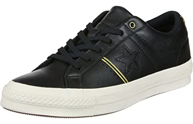 Converse One Star Ox Calzado black/gold/egret