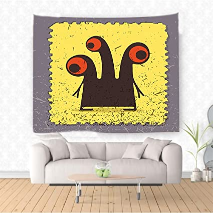 Amazon.com: Nalahome Abstract Trippy Creature with Heads and Large ...