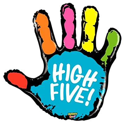 "40"" Mighty High Five Mighty Bright Foil Balloon: Toys & Games"