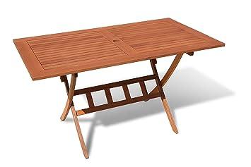 Jardín Mesa 140 x 80 cm mesa plegable mesa para balcón Santos ...